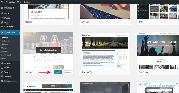 instalare-tema-wordpress