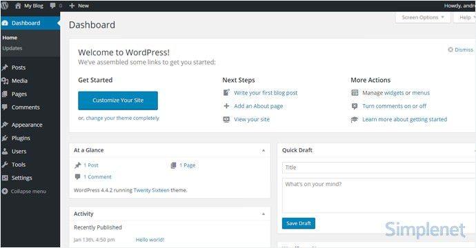 interfata-administrare-wordpress